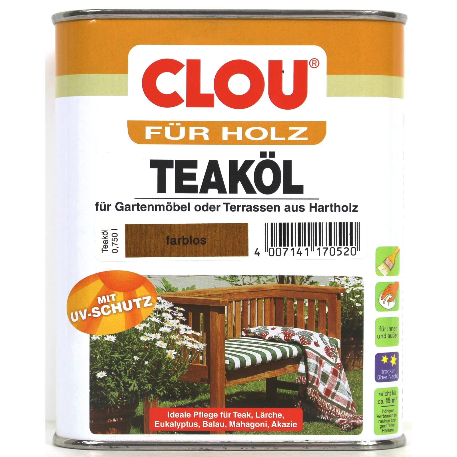 16,5?/l Clou Teaköl Gartenmöbel Öl Teak Mahagoni Zeder Eukalyptus ... Gartenmobel Teakholz Teakol